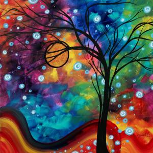 abstract-art-original-painting-winter-cold-by-madart-megan-duncanson