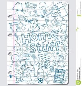 home-stuff-doodles-paper-sheet-32122717